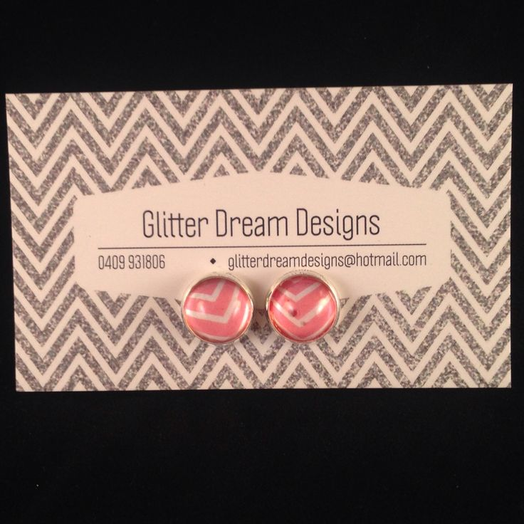 Order Code A4 Pink Cabochon Earrings