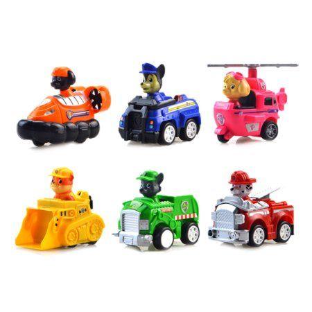 Antsir 6 pcs Paw Patrol Action Figures Racer Pups Dog Kids Toys