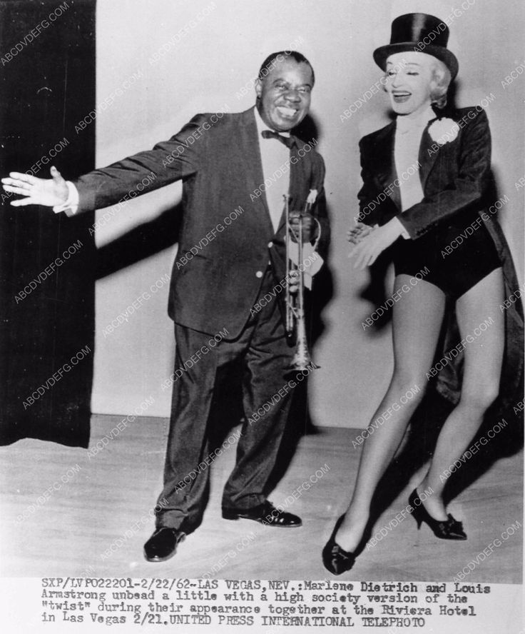news photo Louis Armstrong Marlene Dietrich Riviera Hotel Las Vegas 73-12