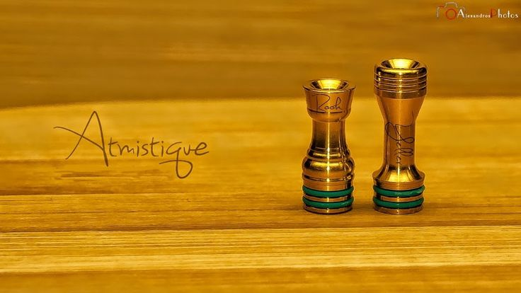 Gold Rook and Yeller drip-tips