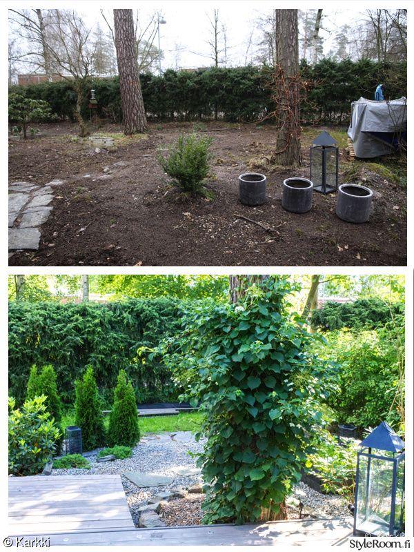 takapiha,ulkotila,piha,pihaidea,japanilainen puutarha,kivipuutarha,terassi,patio,lyhty,tuija,liuskekivi