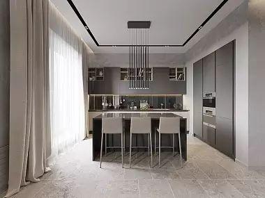 Дизайн интерьера 5-ти комнатной квартиры в стиле минимализм, ЖК «Классика», 208 кв.м   Фото, перепланировка