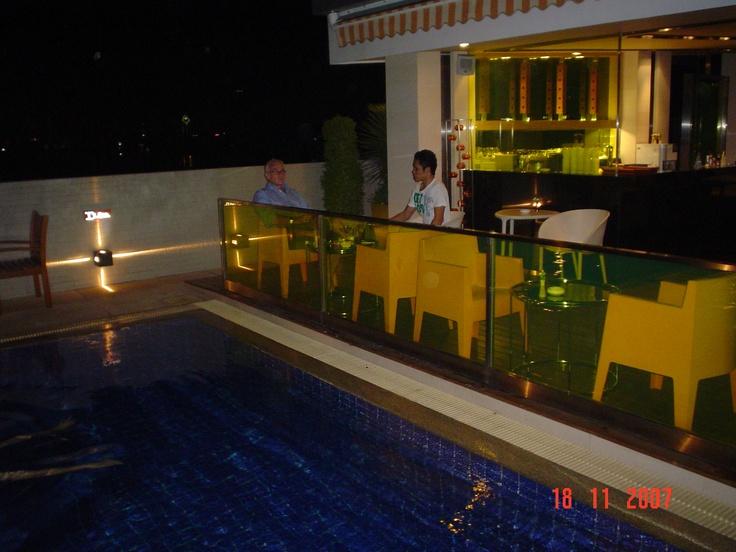 Chairs at Tivoli Hotel, Bangkok, Thailand, poolside