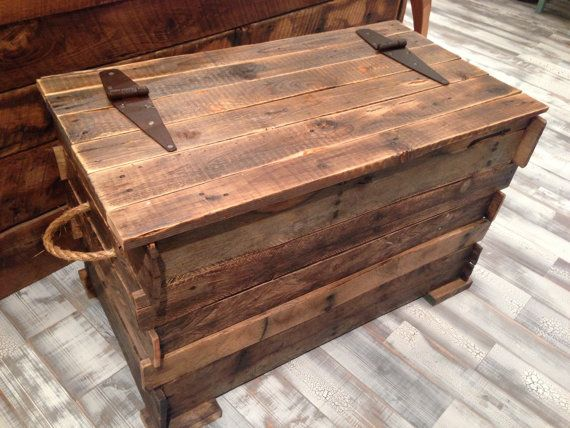 Hand Crafted Pallet Wood Trunk by TheBoutiqueByNLB on Etsy, $399.00