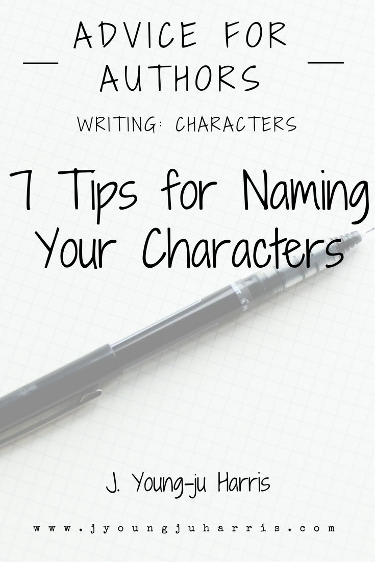 7 #writingtips for naming your characters: https://jyoungjuharris.com/2016/12/08/7-tips-for-naming-your-characters/