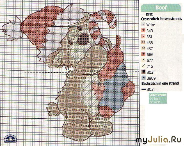 Borduurpatroon - kerst, teddybeer