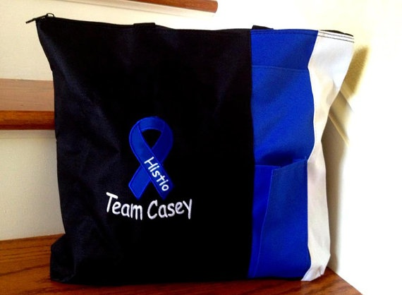 Awarness Ribbon Personalized Tote or Diaper Bag  by 3FancyFrogs, $16.00