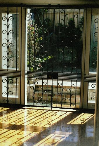 images of glass sliding door with modern steel burglar barring - Google Search & 27 best Burglar Bars images on Pinterest | Windows Iron and ... Pezcame.Com