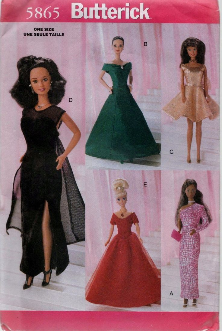 485 besten Doll Patterns Bilder auf Pinterest | Barbiekleidung ...