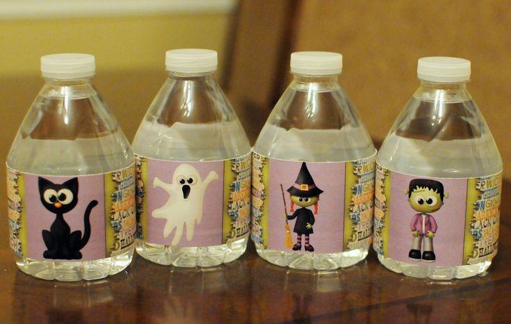 Free Printable Halloween Water Bottle Labels by MK Designs