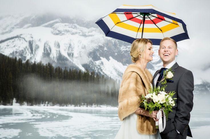 Emerald Lake winter wedding from Kim Payant Photography