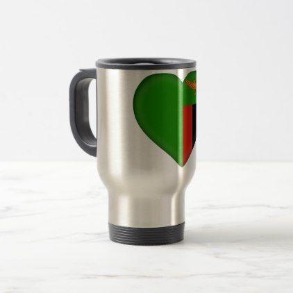 Zambia Flag Travel Mug - diy cyo customize gift idea