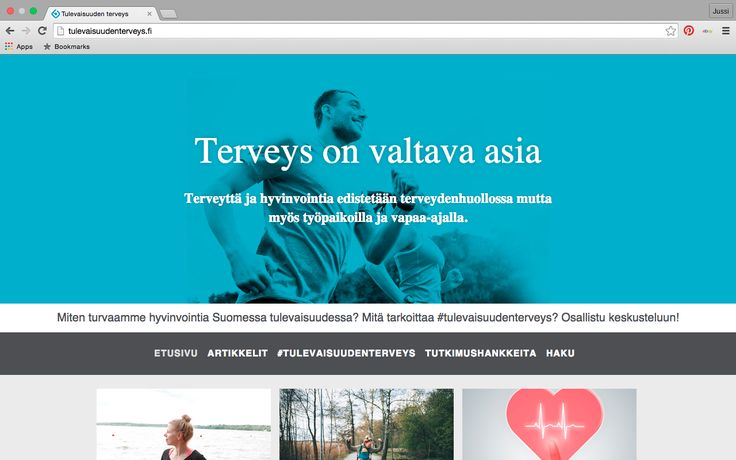 Health and wellbeing site for LähiTapiola. I created the concept and idea, my colleague created the design. www.tulevaisuudenterveys.fi