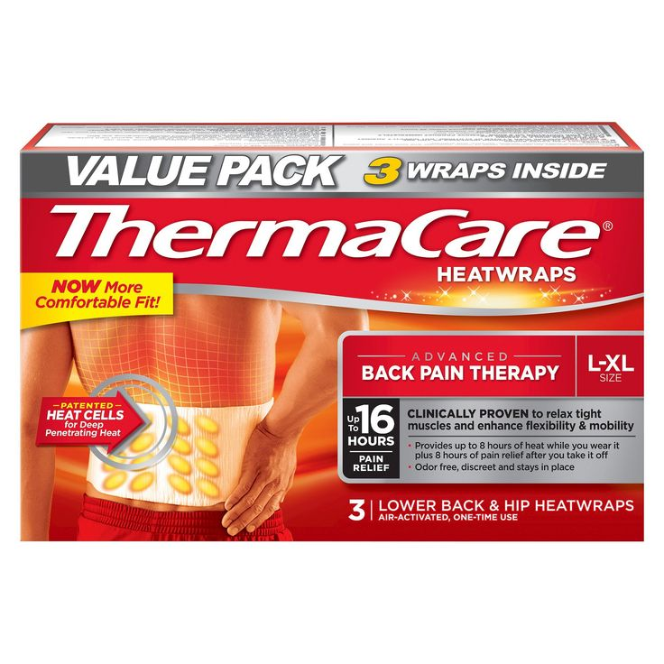 ThermaCare Back Pain Therapy Heatwraps - 3ct