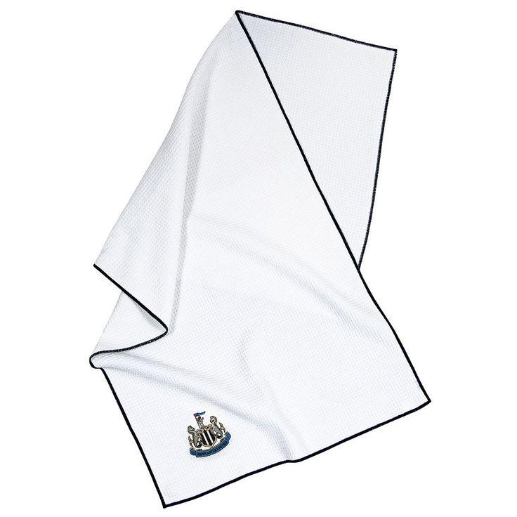 Team Effort Newcastle United FC Waffle-Weave Microfiber Golf Towel, Multicolor