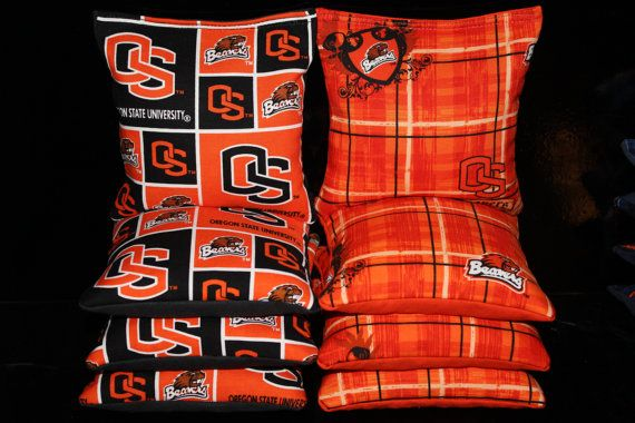 OREGON STATE University Beavers Cornhole Bags 8 Corn Hole Bean Bags ACA Regulation Tailagte Toss Game