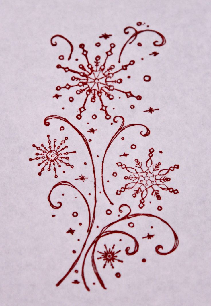 Snowflake envelop stamp. Available in red, green or black.
