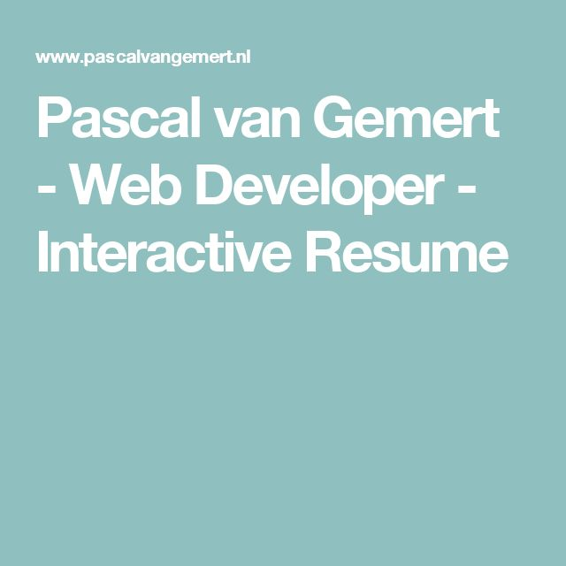 The 25+ best Web developer resume ideas on Pinterest Javascript - system architect resume