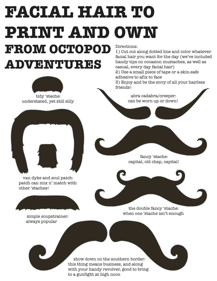 I bring you, the downloadable MUSTACHE KIT! It comes in brown as well as blank, in case you want a blonde/red/purple/etc set of facial hair