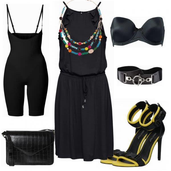 Sommer-Outfits: Bonprix schwarzes Kleid bei FrauenOutfits.de #mode #damenmode #f…