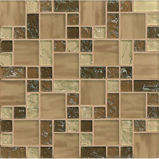 X Brown Ice Le Gl Mosaic Is Designed For Commercial And Residential Use Walls Shower
