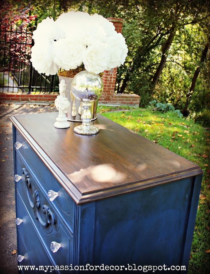 Walnut Farmhouse Dresser With Napoleonic Chalk Paint