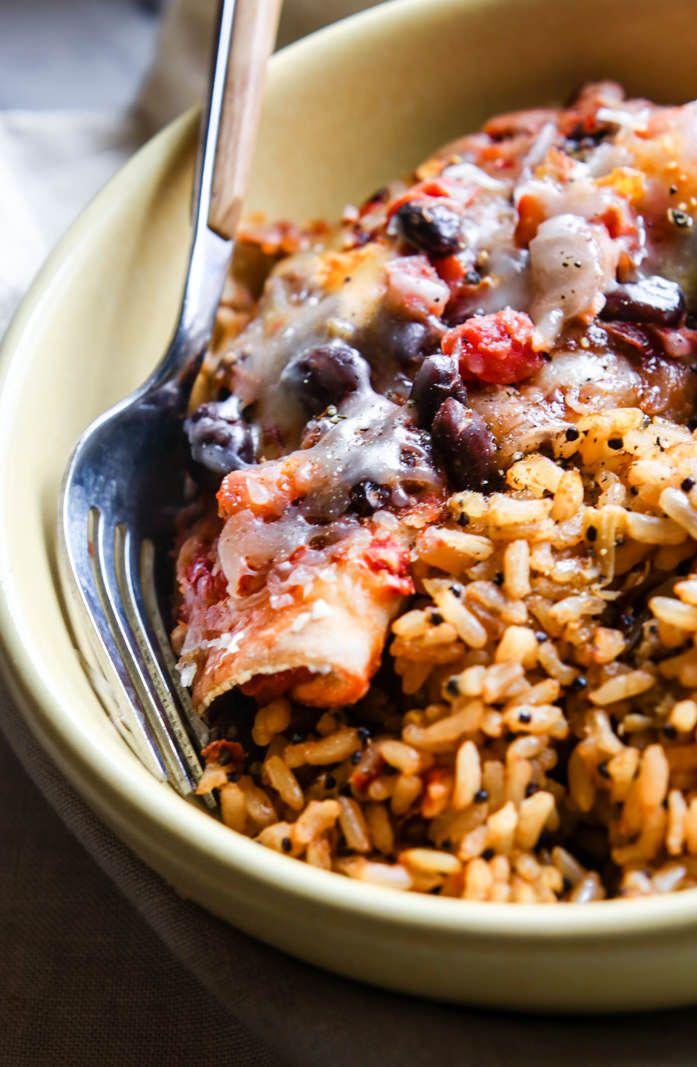 Healthy Kid Friendly Salmon Baked Bean Burrito Bowl Recipe