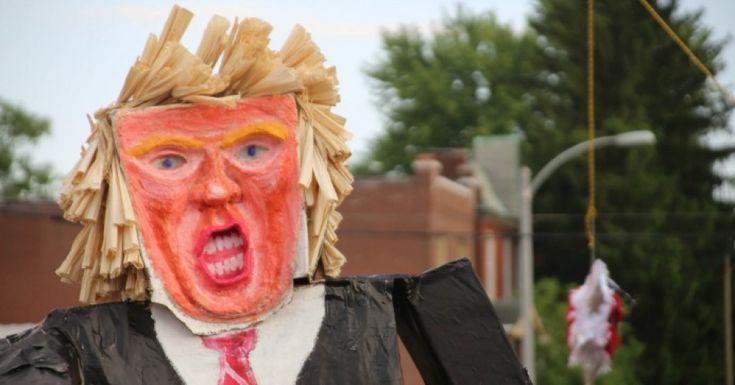 A homemade piñata of U.S. President Donald Trump. (Photo: Paul Sableman/cc/flickr)