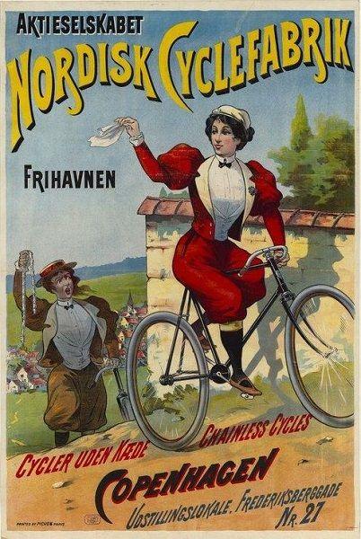 'Women, beware of bicycle face!'   europeana