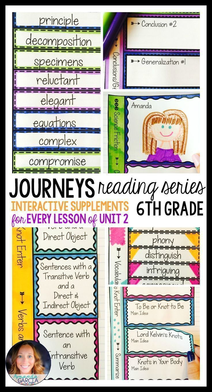 Sixth grade students LOVE these FUN interactive notebook supplements and  printable worksheets! This unit is ali…   Sixth grade reading [ 1359 x 736 Pixel ]