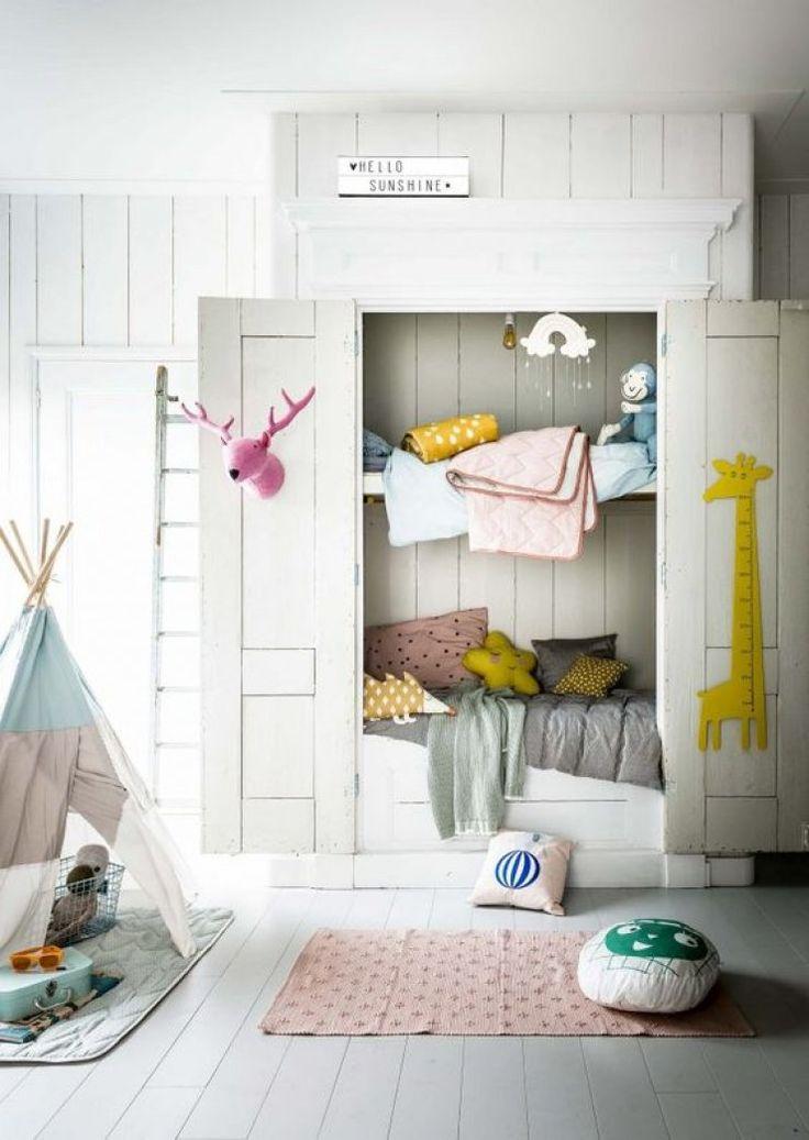 Mommo Design Bunk Beds Bunk Rooms Pinterest Bunk