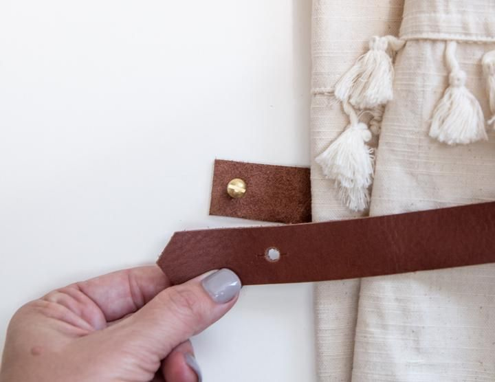 Leather Curtain Tieback In 2020 Curtain Tie Backs Curtains Panel Curtains