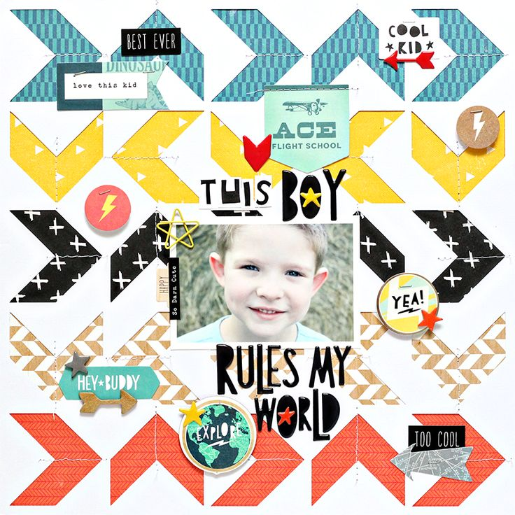 Cool Kid Collection Layout Inspiration                                                                                                                                                                                 More