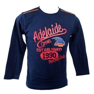AFL Adelaide Crows Long Sleeve Tee Kids
