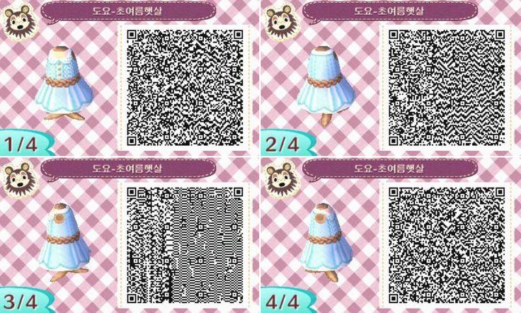 Animal Crossing New Leaf Blue summer dress qr code