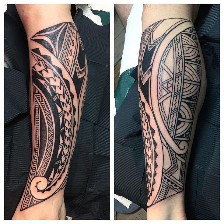 Made a start on Jason's Polynesian leg today #polynesiantattoos…