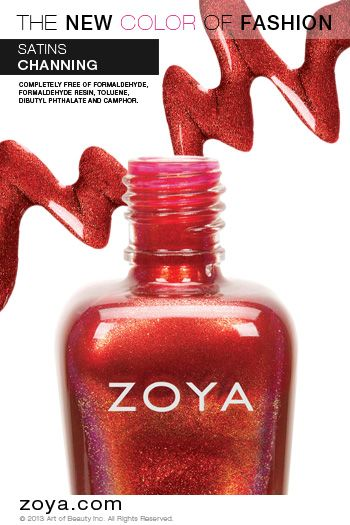 Zoya Nail Polish in Channing from the Satins Fall 2013 Edition - ORDER NOW!