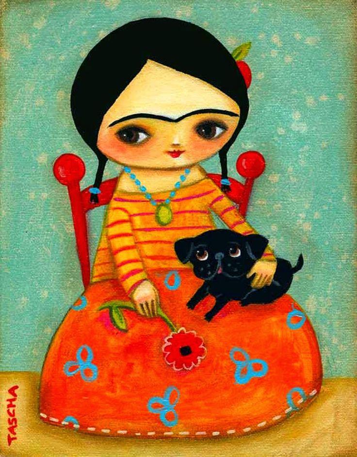 As lindas ilustrações de Frida Kahlo por Tascha Parkinson