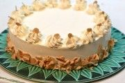 """Lemon Cream Génoise genoise (/ʒeɪˈnwɑːz/, /ʒəˈnwɑːz/, /dʒeɪˈnwɑːz/, or /dʒɛˈnwɑːz/; French pronunciation: [ʒenwaz]; Genoese cake or Genovese cake; rarely spelled """"génoise"""" in English)[1][2][3][4] is an Italian sponge cake named after the city of Genoa and associated with Italian and French cuisine. Instead of using chemical leavening, air is suspended in the batter during mixing to provide volume."""