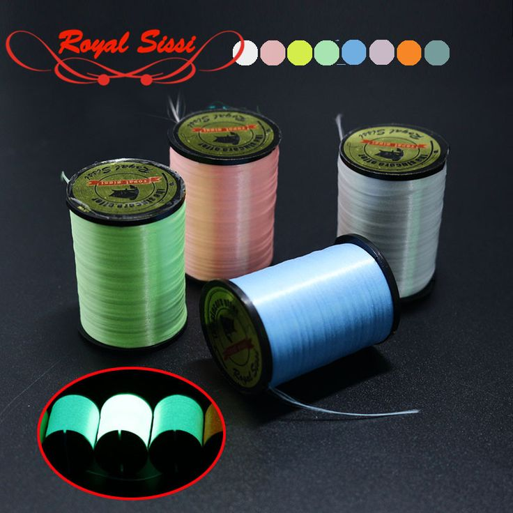 6 colors 150D denier luminescent fly tying thread floss highly waxed polyester filament yarns 300yd spool fly fishing lines wire