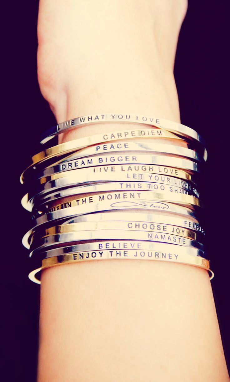 Stackable Inspiration Bracelets?! Thanks for the perfect stocking stuffer MantraBand! <3