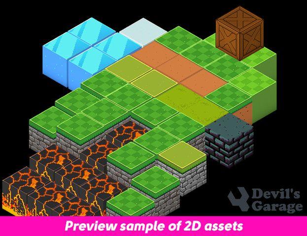 2d Pixelart Isometric Blocks Sponsored 3d Isometric Pixelart