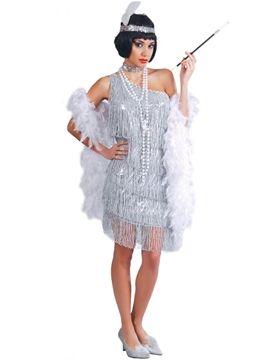 Disfraz Charleston Plata Mujer en 2019  b15928025a68