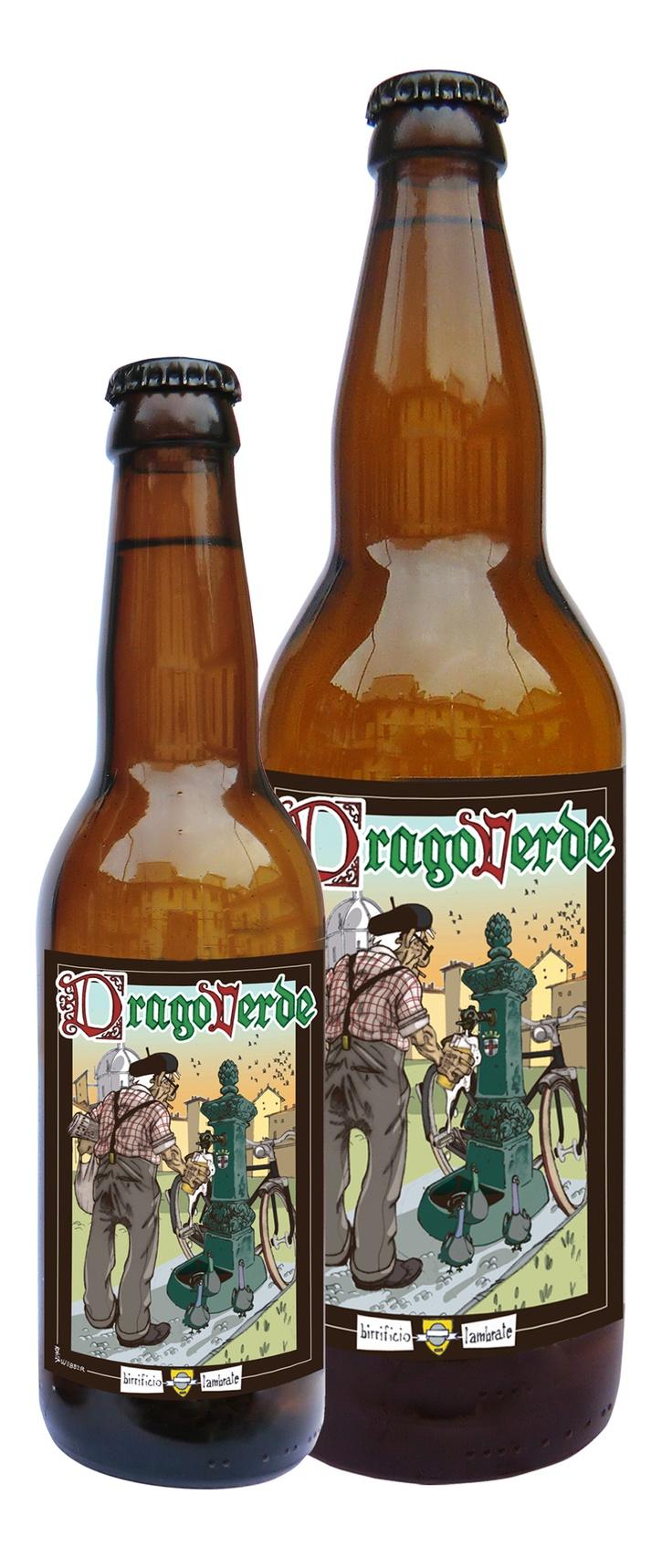 DRAGO VERDE  Vol. 4 %   Birra in stile American Lager, rinfrescante con note agrumate