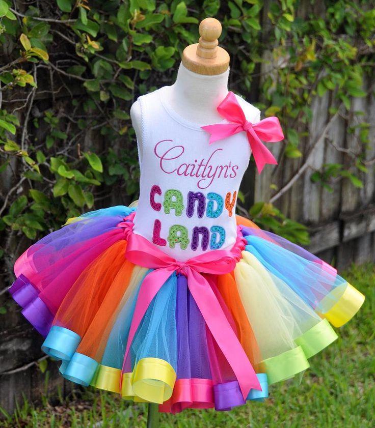 Candyland Rainbow Ribbons Elegance Tutu Set