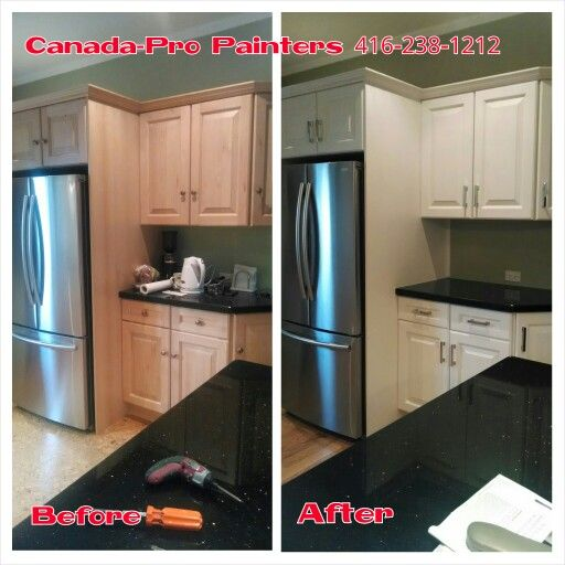 Can White Kitchen Cabinets Be Repainted: Natural Maple Cabinets Repainted In Benjamin Moore Color