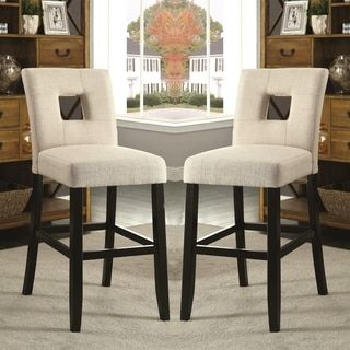 Shop for Maldives Open Back Beige Upholstered Counter Height Parsons Dining Stools (Set of 2). Get free shipping at Overstock.com - Your Online Furniture Outlet Store! Get 5% in rewards with Club O!
