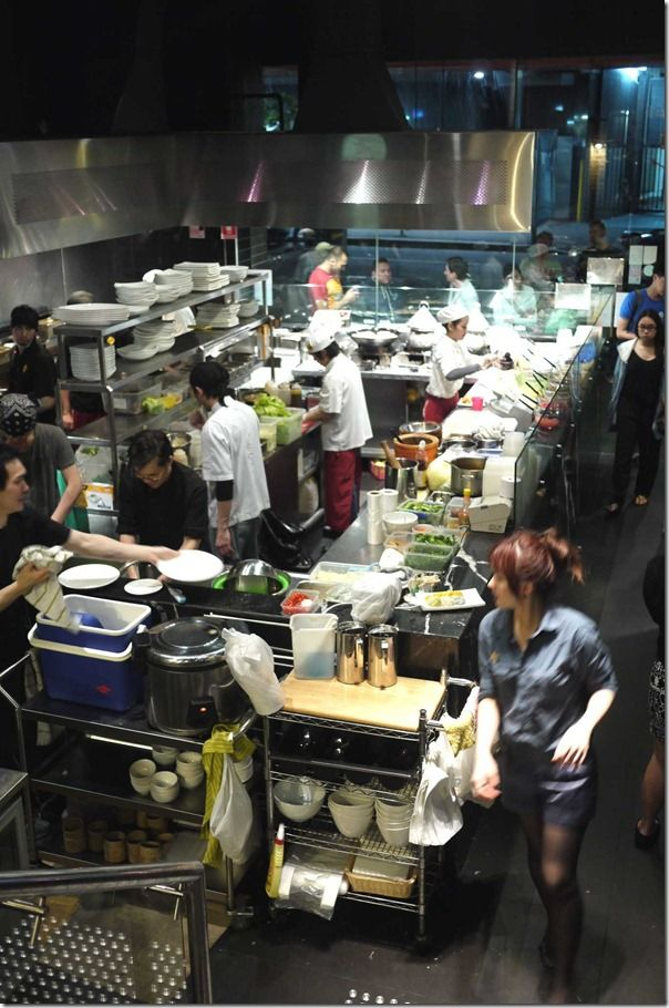 Open kitchen at Home Thai Restaurant, Sydney