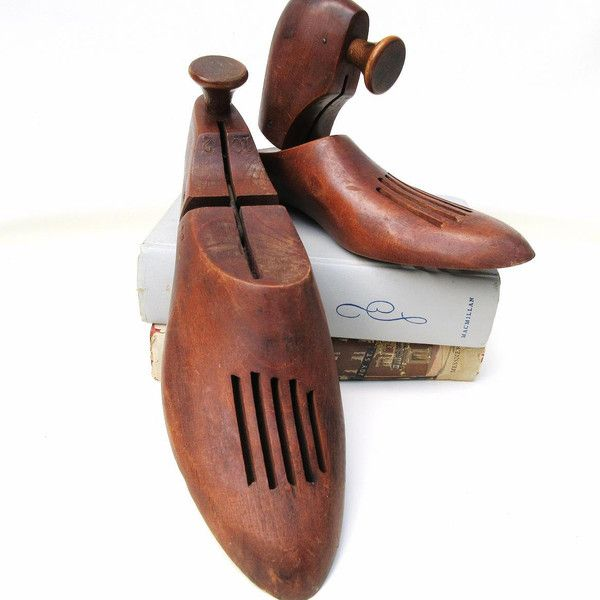 Antique Wooden Shoe Stretchers, Pair Wood Shoes, Shoe Forms, Shoe... ($33) ❤ liked on Polyvore featuring home, home decor, small item storage, wooden book ends, wooden bookends, wood shoe racks, lumber rack and wood book ends