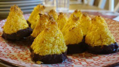 MatmedJenny - Mindre socker, gluten och mejerier i maten. Hälsosamma recept.: Chokladdoppade kokostoppar med saffran